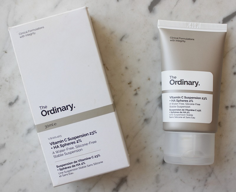 The Ordinary Vitamin C suspension 23% + HA spheres resenha pele oleosa
