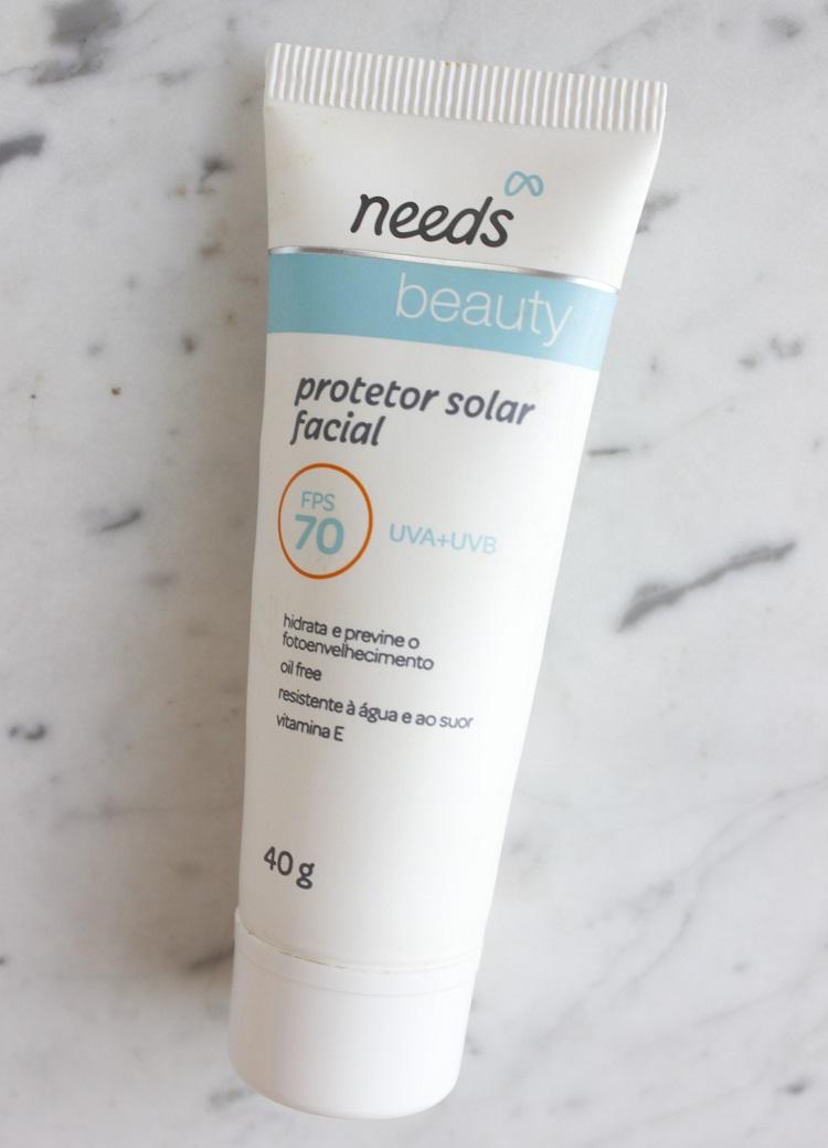 Needs Beauty FPS70 protetor solar facial sem cor resenha