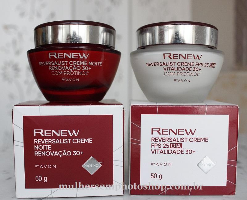 Renew Reversalist 30+ com protinol creme diurno e noturno resenha