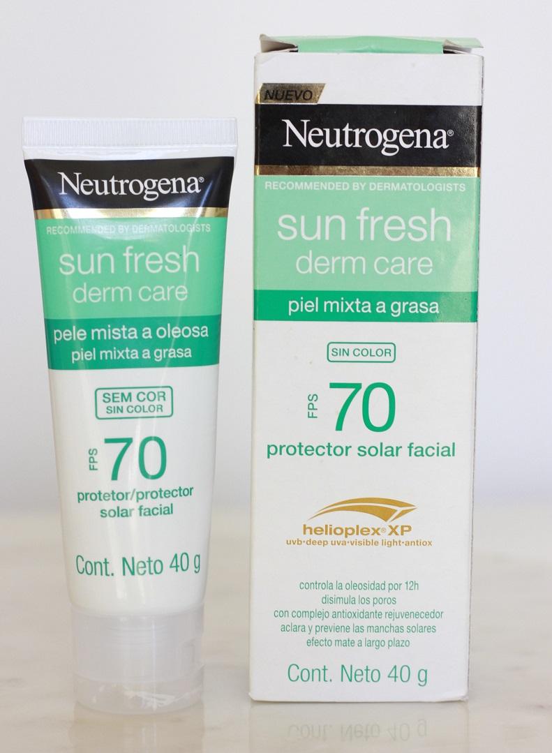 Neutrogena Derm Care FPS70 resenha protetor solar sem cor pele oleosa