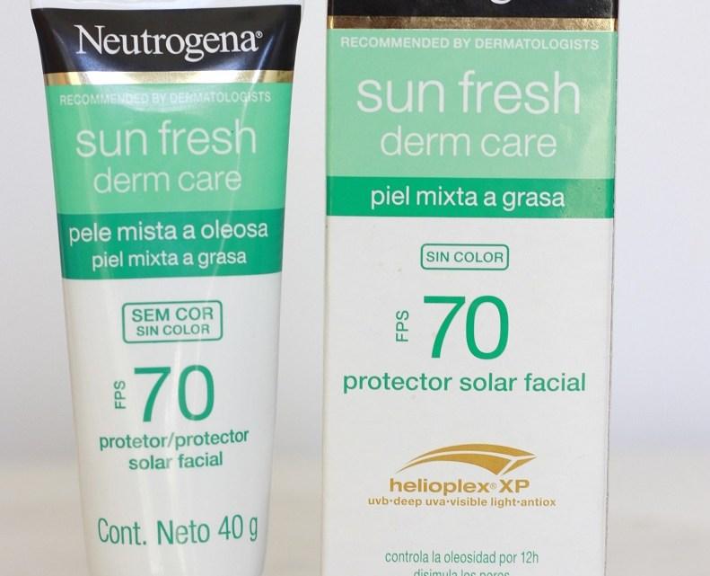 Neutrogena Derm Care FPS70 resenha em pele oleosa