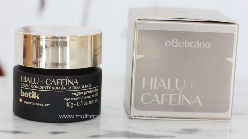 Creme para Área dos Olhos Botik Hialu + Cafeína do Boticário resenha