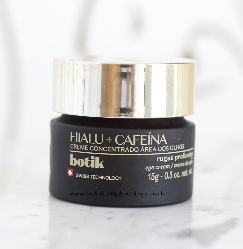 Creme Concentrado para Área dos Olhos Hialu Cafeina Botik resenha
