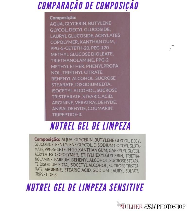 Nutrel Gel de Limpeza e Nutrel Sensitive resenha