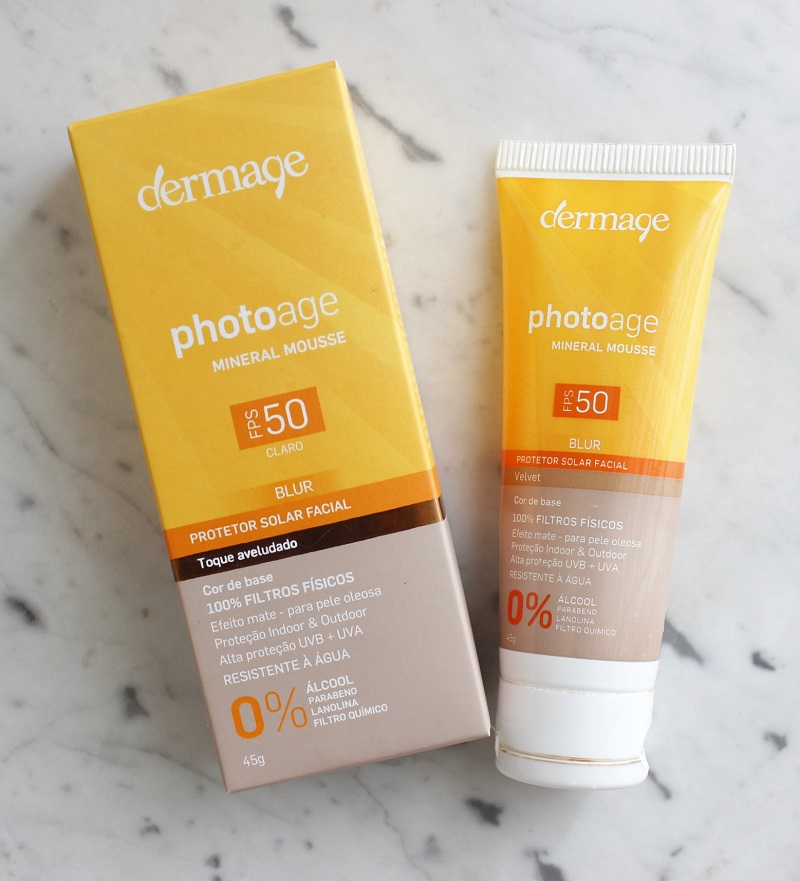 Dermage Photoage Mineral Mousse FPS50 resenha