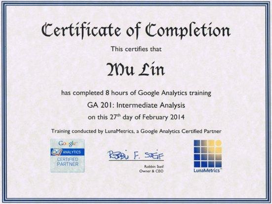 GA-certificate
