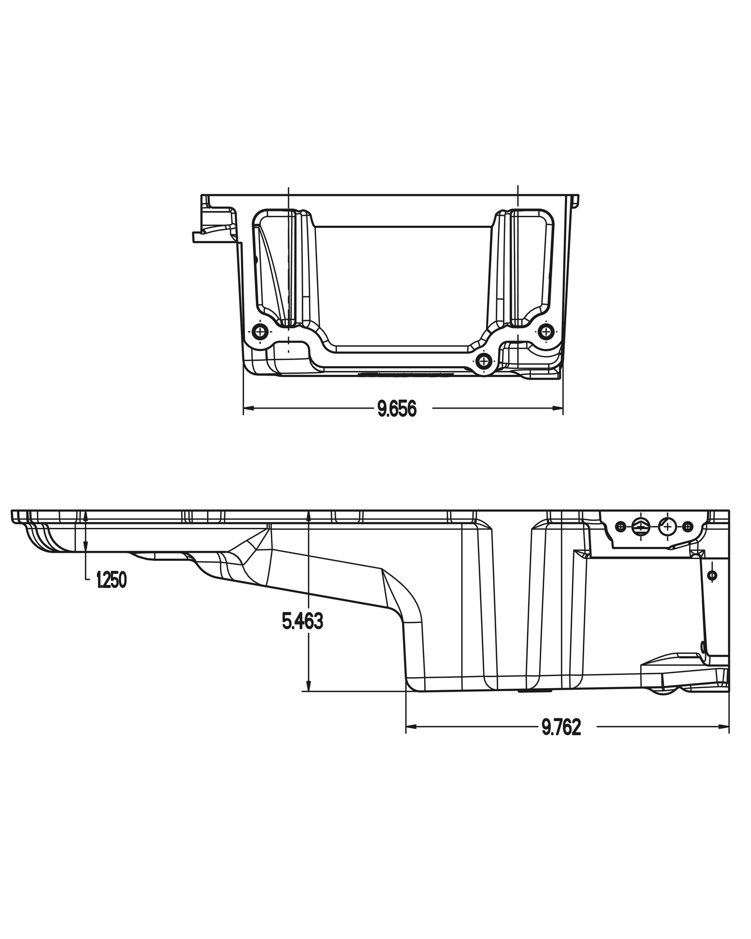 Gm Ls Retro Fit Oil Pan Additional Front Clearance