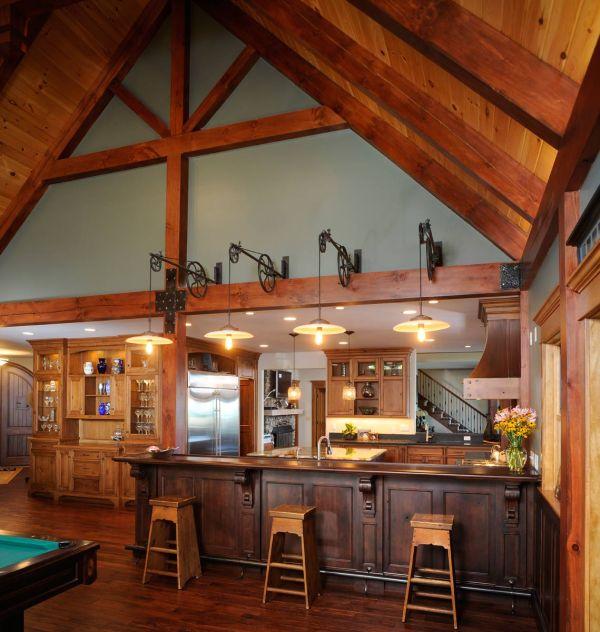Mullet Cabinet Knotty Cherry Lake House Kitchen