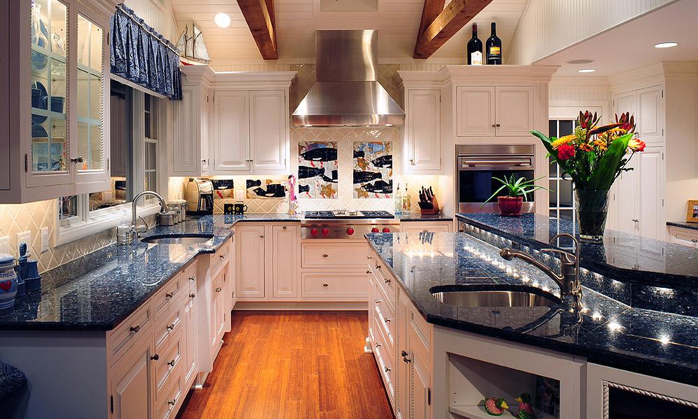 Mullet Cabinet  White Nautical Kitchen