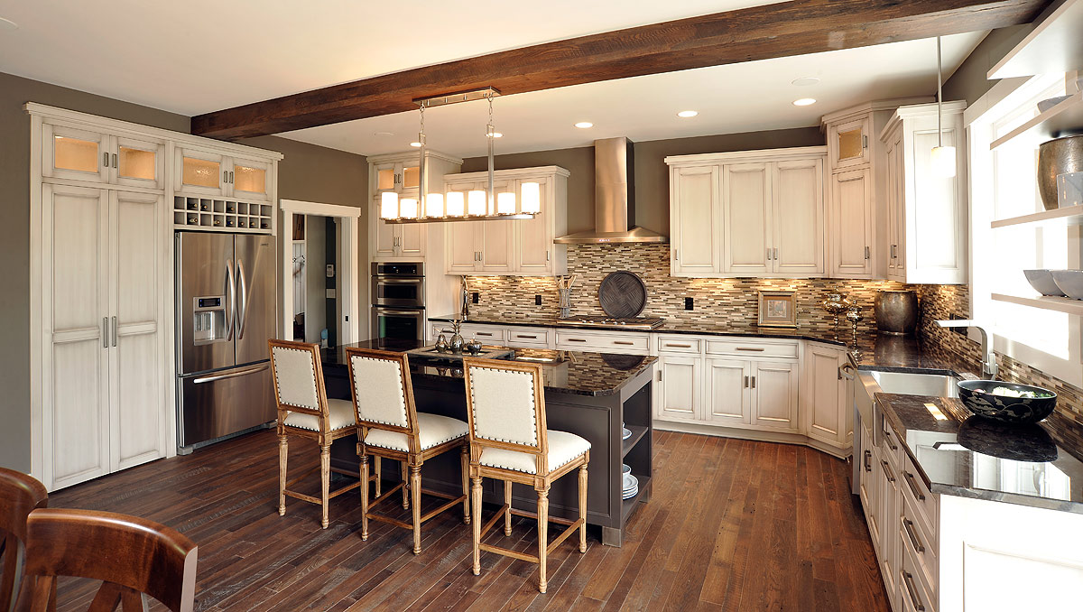 Mullet Cabinet  Alluring Color Palette Kitchen