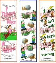 Mulligan Golf Excuses Bookmarks #1