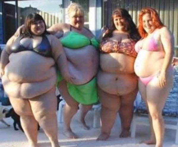 Mulheres gordas de biquini - Imagem engraçada