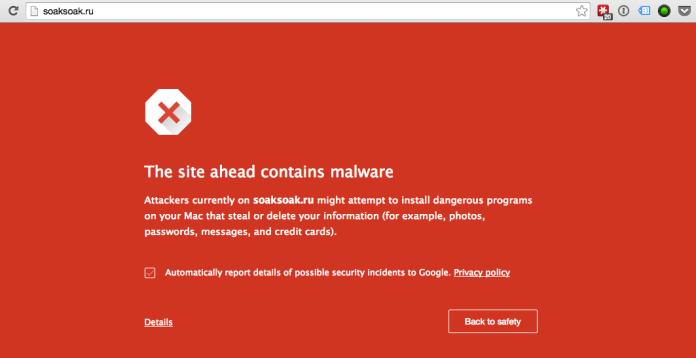 Site com malware
