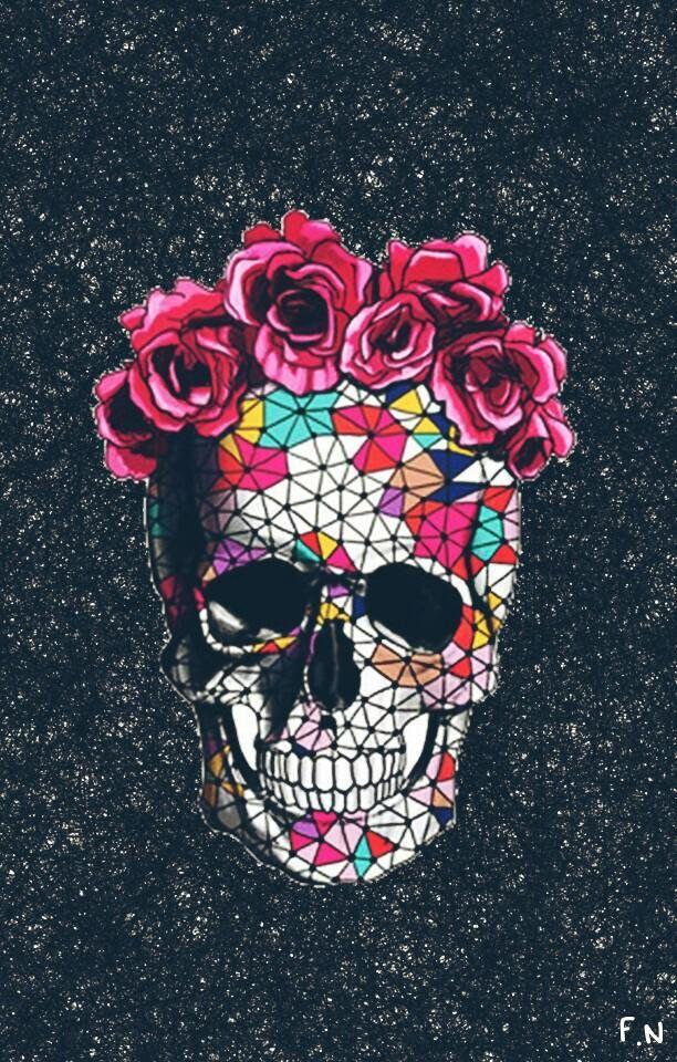 imagens Tumblr caveira rosas