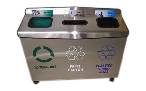 basurero reciclable