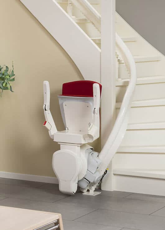 electric stair chair patio swivel rocker oto air - curved stairlift for narrow stairs | multicare mobility
