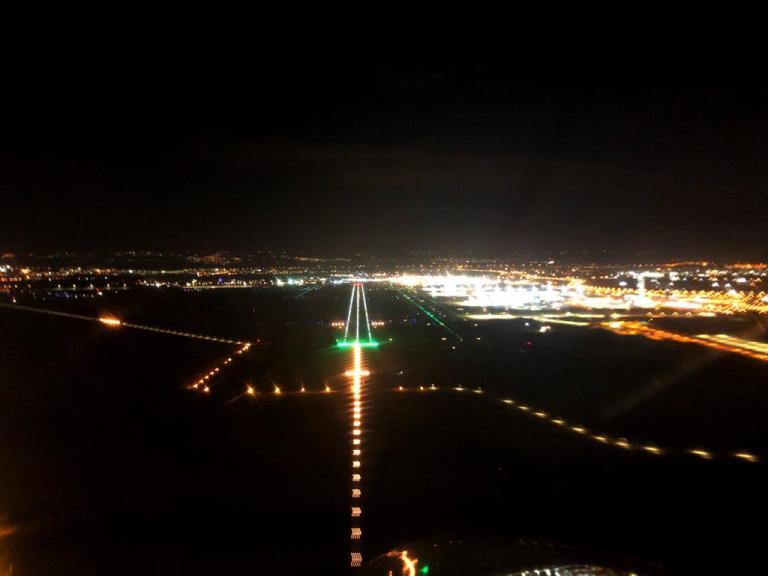 Night Approach Budapest