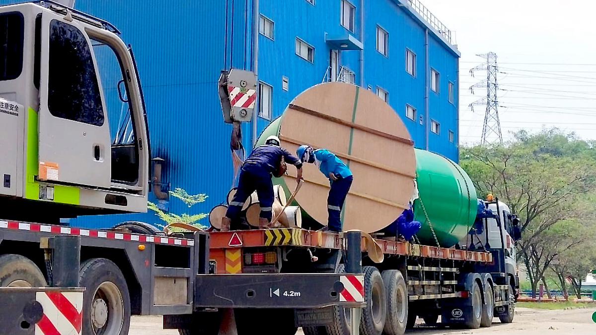 Project Cargo PT PAL Untuk Pengiriman Pipa CWC Indonesia Power