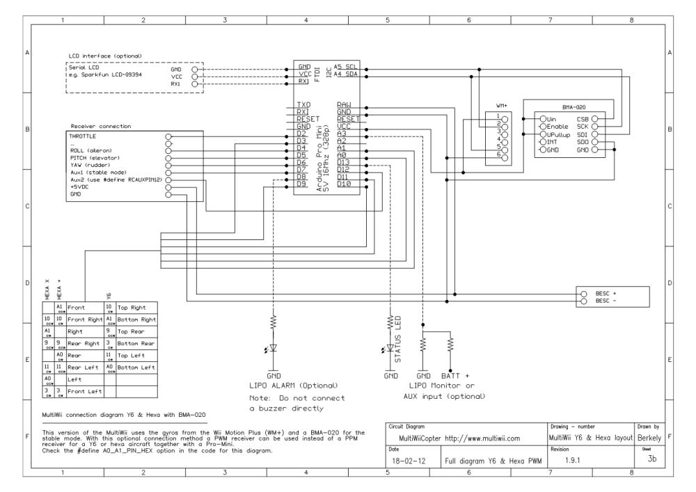 medium resolution of multiwiicopter t uuml rkiyenin drone multikopter platformu multiwii wiring diagram