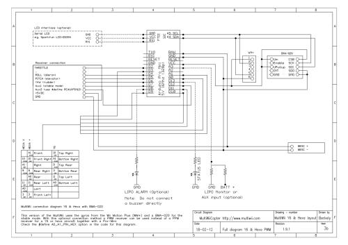 small resolution of multiwiicopter t uuml rkiyenin drone multikopter platformu multiwii wiring diagram