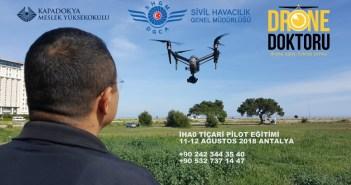 11-12 Ağustos 2018 İHA0 Ticari Drone Pilot Eğitimi Antalya