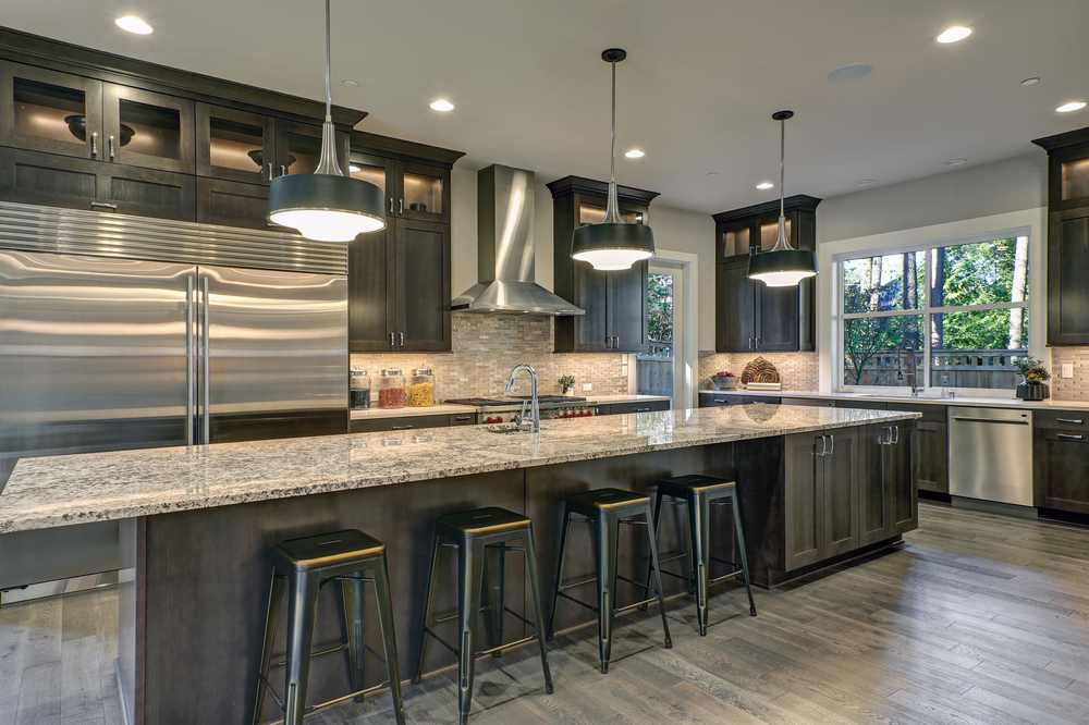 countertop stools kitchen white island with granite top counter are must haves in the multi lighting