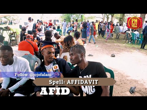 "(Video) University graduates couldn't spell ""Affidavit"""
