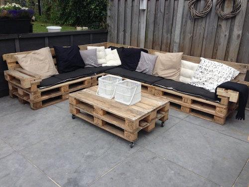 meubles exterieurs en bois de palette