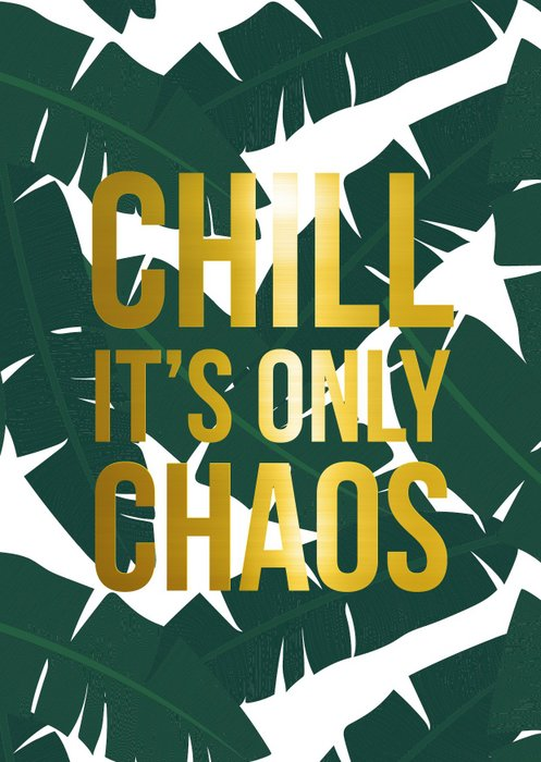 wenskaart chill it's only chaos