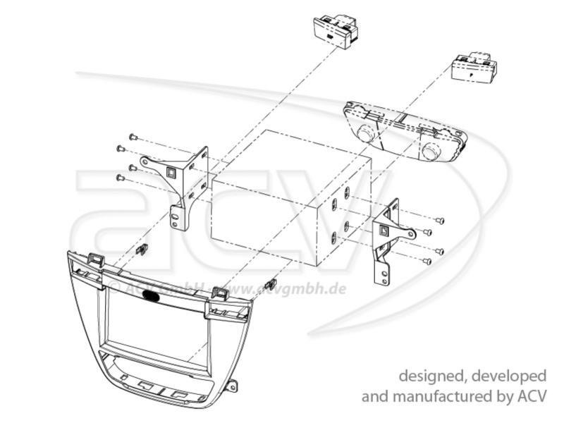 2-DIN RB Opel Insignia 2008 > / Buick 2009 > braun