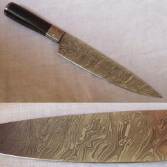 Damascus Kitchen Knives Island Table Ideas Chef Knife Dkk02 Steel Made Multiplex Traders Home Daggers