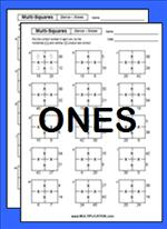 Free Multi Square Multiplication Worksheets