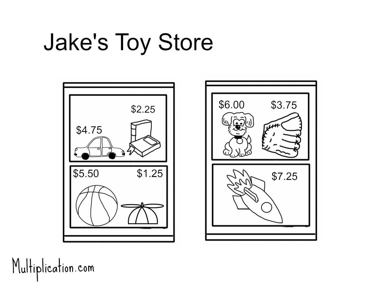 Toy Store Activity And Worksheet