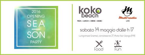 Sabato 14 Maggio in diretta dallo chalet KOKO BEACH di Porto San Giorgio !