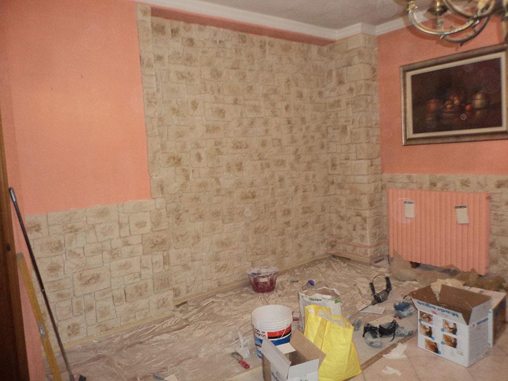 Rivestimento muro in Pietra finta
