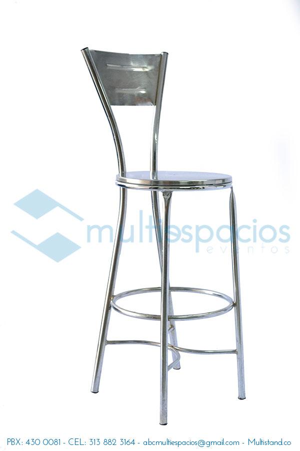 Alquiler de sillas altas, tipo bar en Bogotá