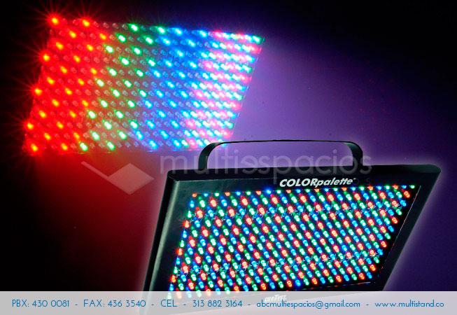 Alquiler de iluminación para eventos y Chauvet palette color