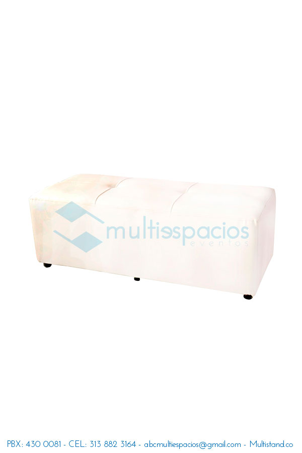 alquiler de puff doble blanco, Alquiler de salas Lounge, sillas plástica, mesas, en Bogotá