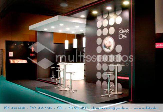 instalación de stands en Bogotá