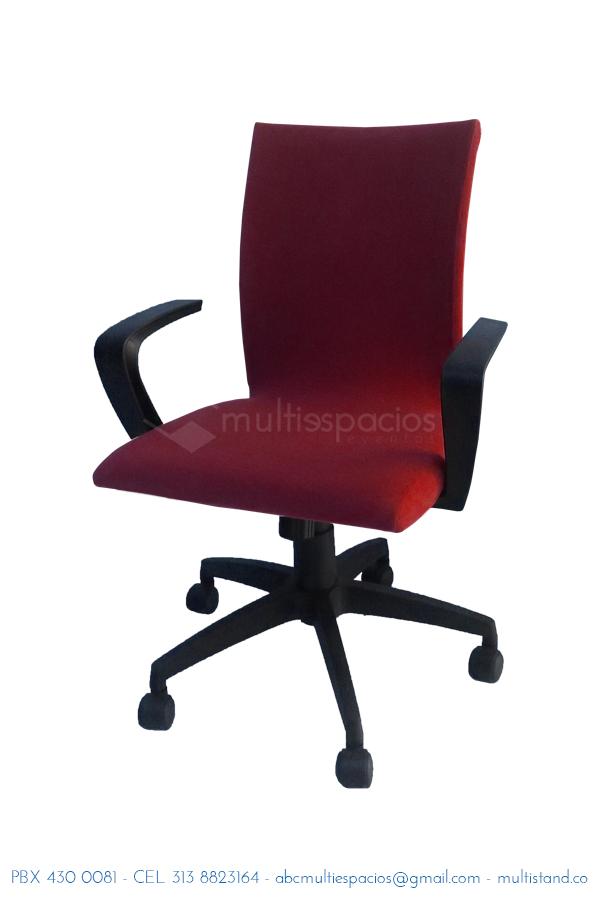silla ejecutiva roja para eventos en Bogotá