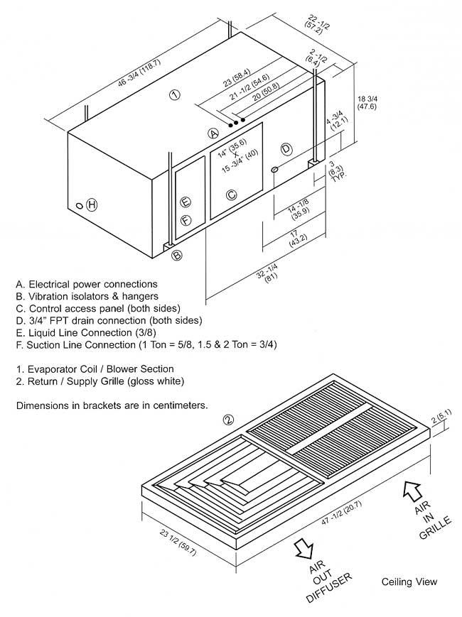DX Grille Diffuser 1.5 AC Unit