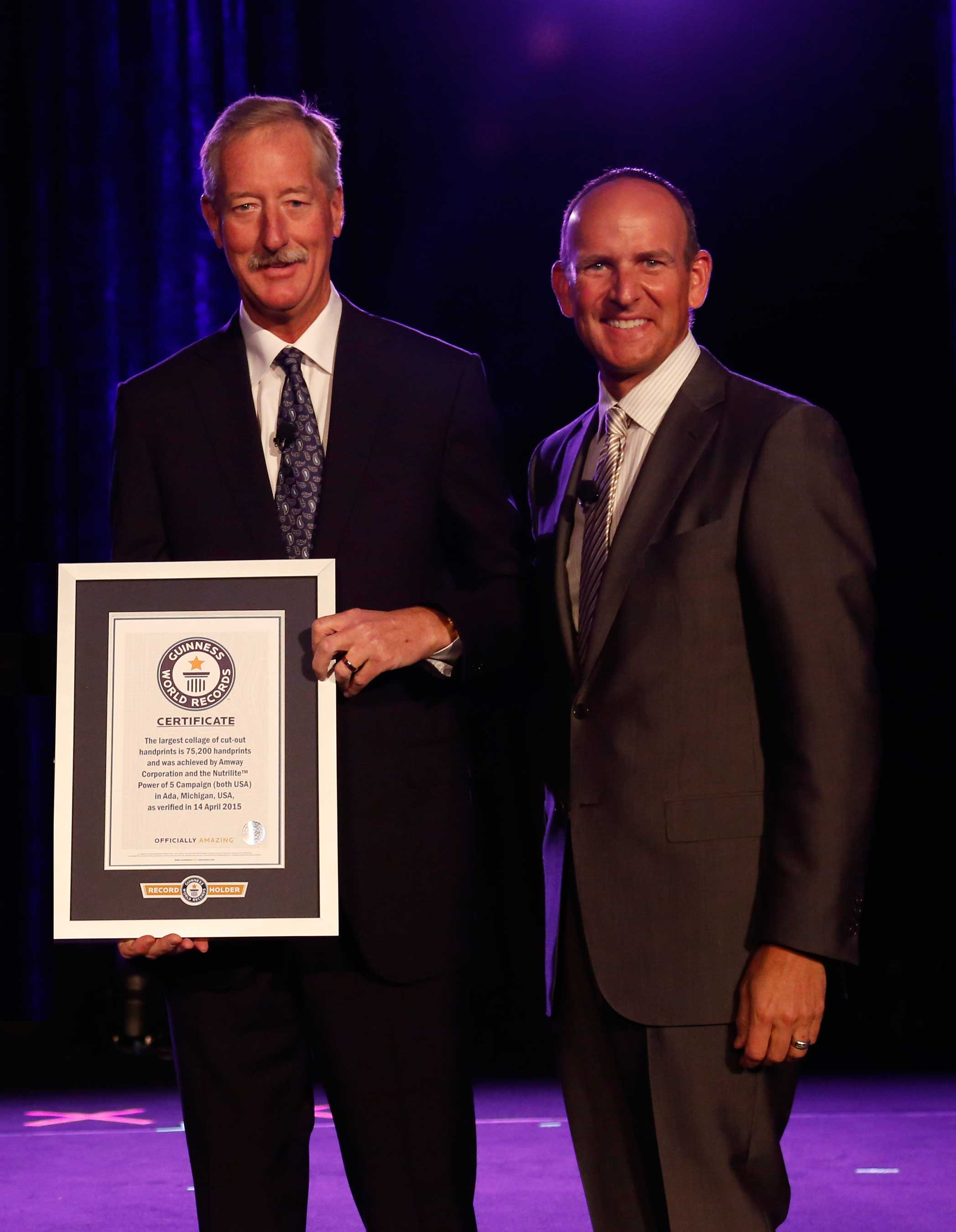 Amway Rallies Thousands to Raise Awareness of Malnutrition and Break GUINNESS WORLD RECORDS™ Record Title