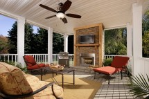 Mobile Homes with Porch Fireplace