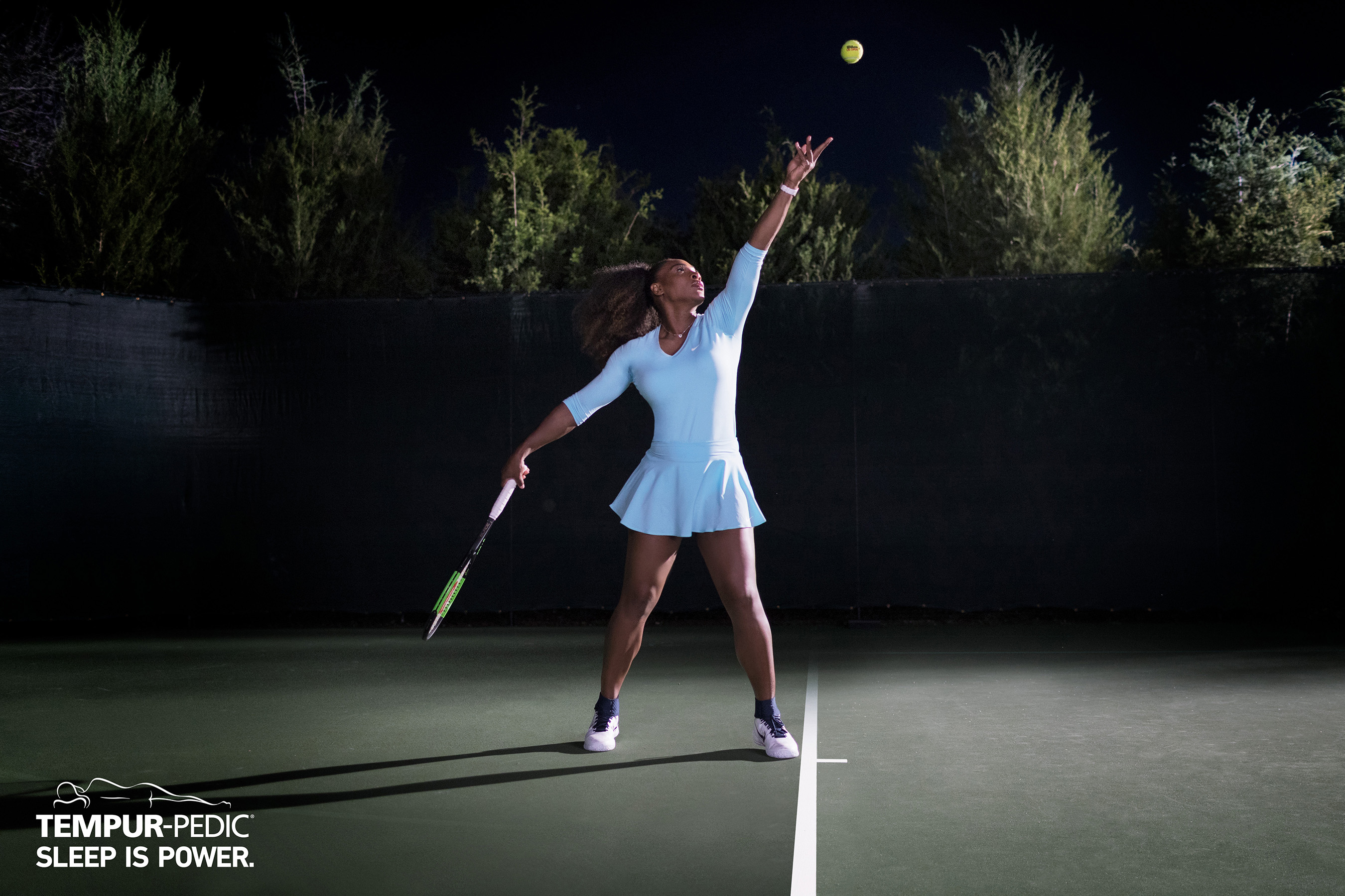 Tennis Icon Serena Williams is Powered by TempurPedic
