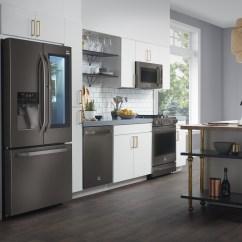 Black Stainless Steel Kitchen Aid Mixer Cream Lg Debuts Expanded Nate Berkus Inspired Studio 2017