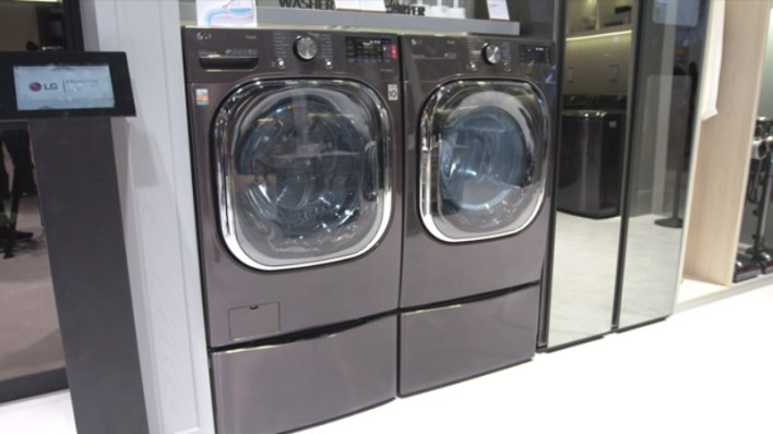 LG ThinQ Front Load Washer and Dryer Pair