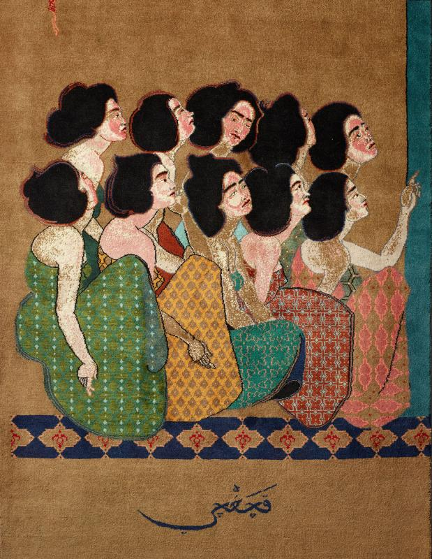 Sanctuary: Kachachi (2015), by Hayv Kahraman. Image provided by the FOR-SITE Foundation with the support of ALRUG.