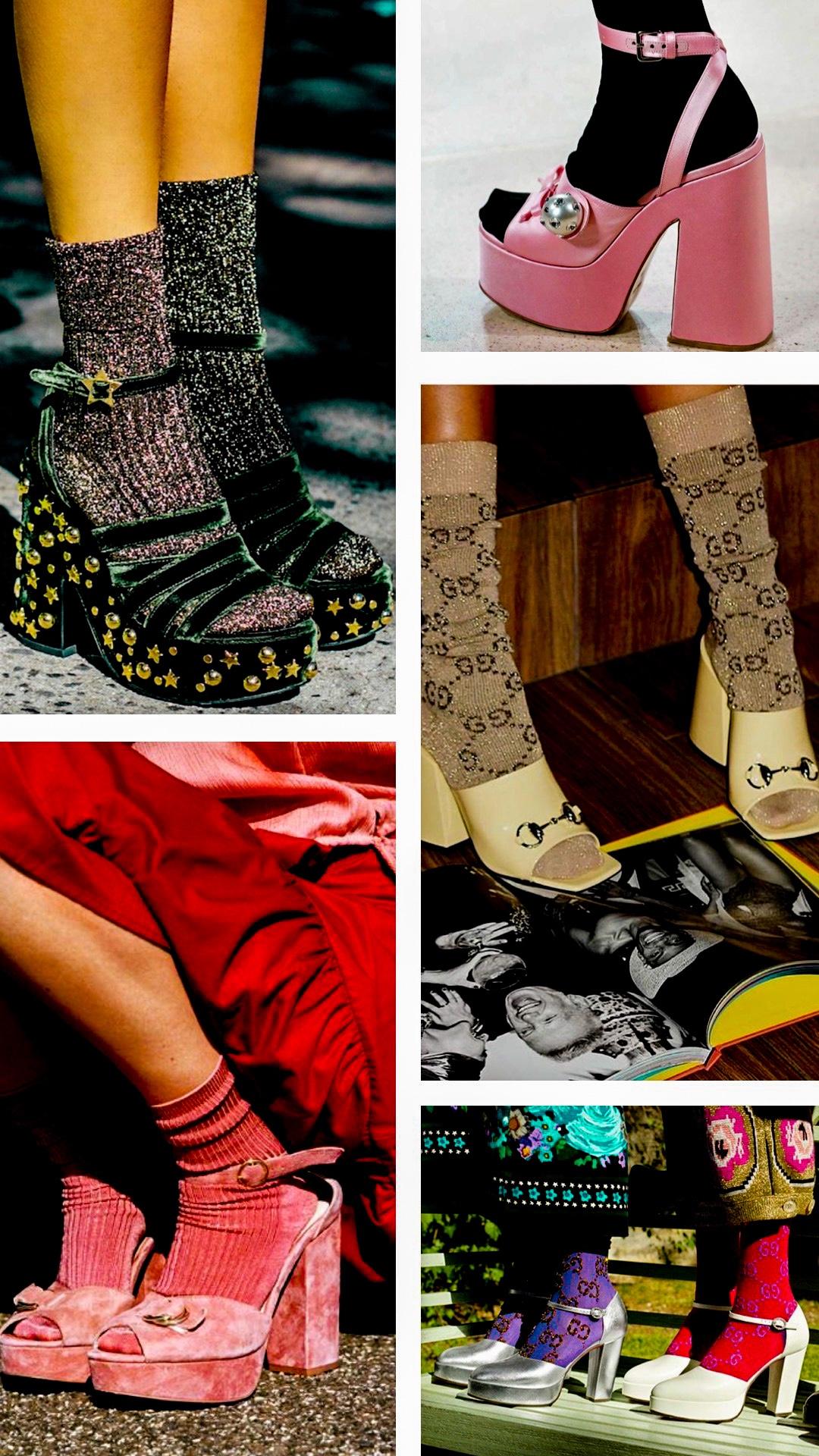 Gucci socks and heels