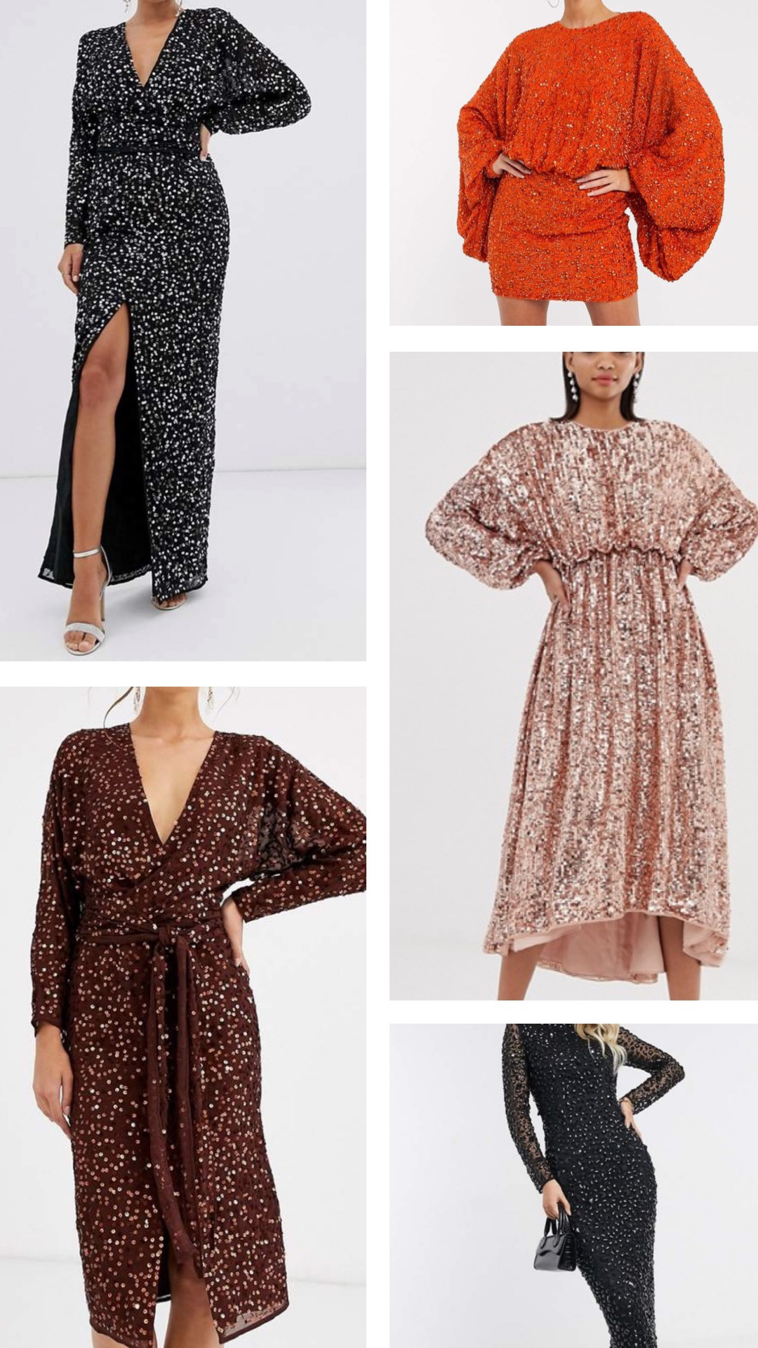 the best sequin dresses on ASOS for New Years Eve