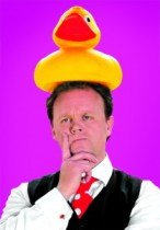 Justin Fletcher and a Duck